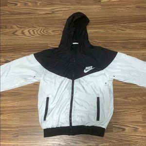 Men's White/Black Nike Windrunner/Windbreaker